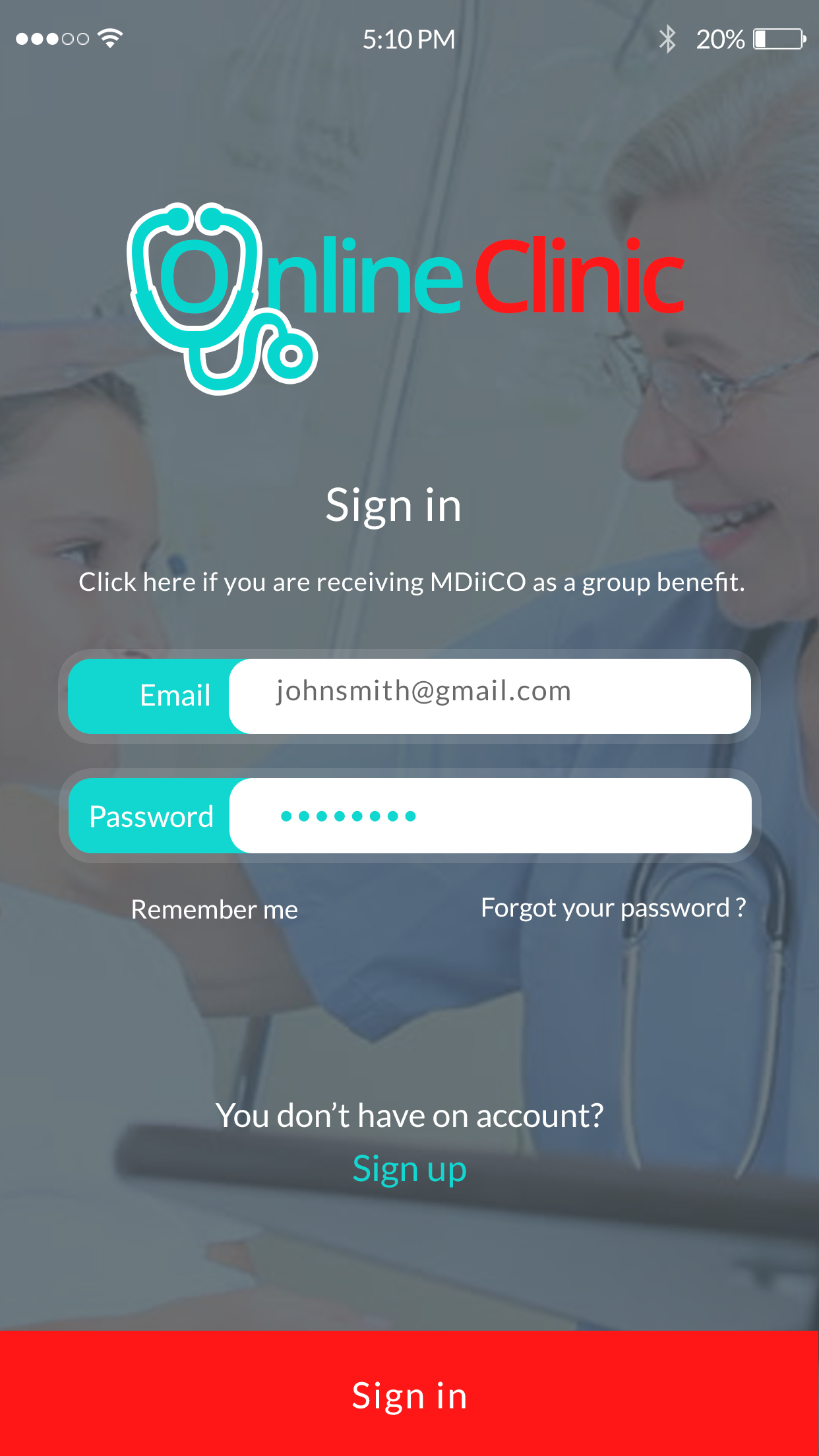 practo sign in